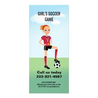 Girl's Soccer Rack Card
