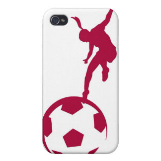 Girls Soccer Red Case For The iPhone 4