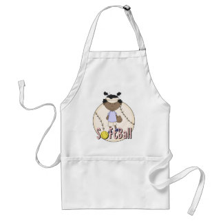 Girls Softball African American t-shirts and Gifts Standard Apron