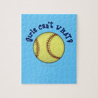Girls Softball-Blue Jigsaw Puzzle