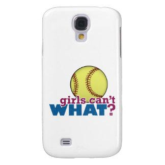 Girls Softball Galaxy S4 Case