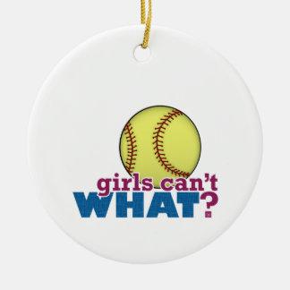 Girls Softball Christmas Ornament