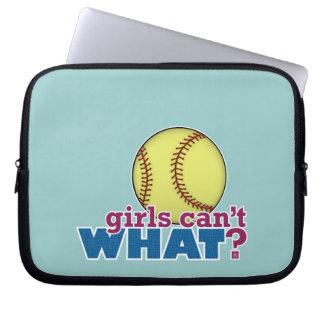 Girls Softball Laptop Sleeves