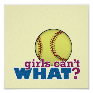 Girls Softball Poster