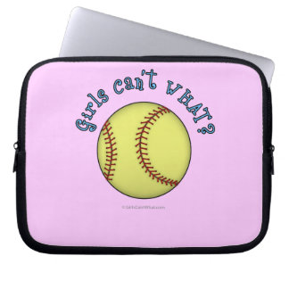 Girls Softball-Sky Blue Text Laptop Sleeves
