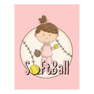 Girls Softball T-shirts and Gifts Postcard
