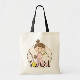 Girls Softball T-shirts and Gifts Tote Bag