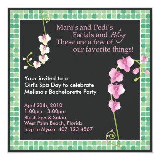 Girl's Spa Day! 13 Cm X 13 Cm Square Invitation Card