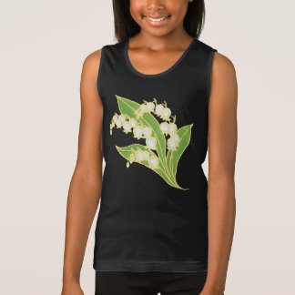 Girls Spaghetti Strap Tank Top: Lily of the Valley