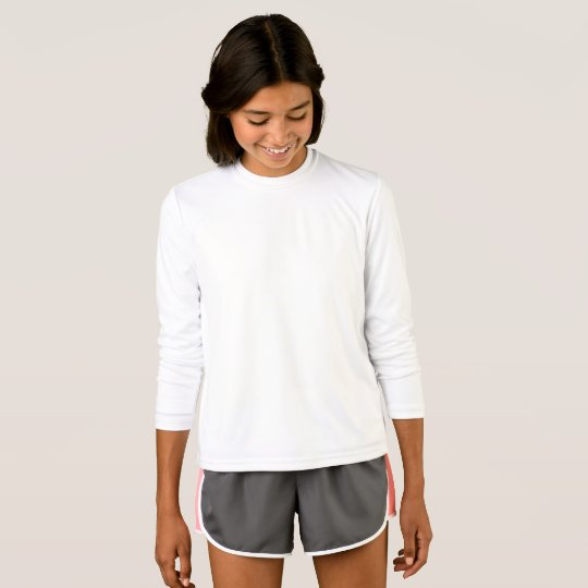 Girls' Sport-Tek Competitor Long Sleeve T-Shirt, White