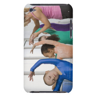 Girls stretching in gymnastics class Case-Mate iPod touch case