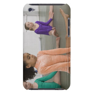 Girls stretching in gymnastics practice iPod Case-Mate cases