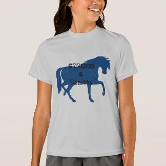 Girls Strong & Beautiful Horse T-Shirt