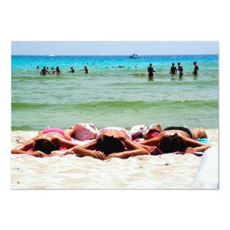 "Girls Sunbathing Invitation 5"" X 7"" Invitation Card"