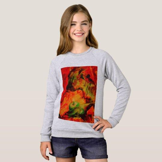 Girls sweater/t shirt Green Birdy