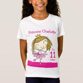 GIRLS T-SHIRT Age 11 princess 11th Birthday