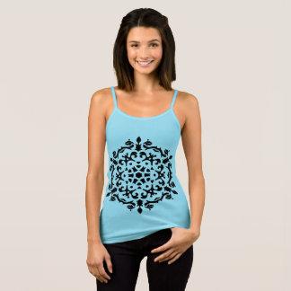 GIRLS t-shirt blue with Mandala art / FOLK