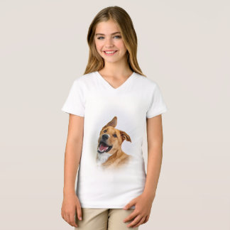 Girl's T-shirt featuring Oscar a Lab want to be