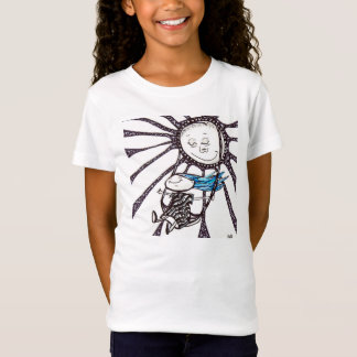 Girls T-Shirt Girl on a swing Whimsical