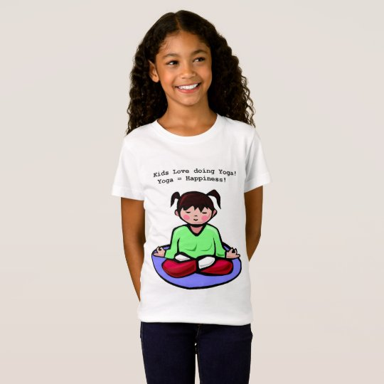 girls t-shirt Kids Love Yoga