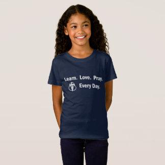 Girl's T-shirt: Learn Love Pray T-Shirt