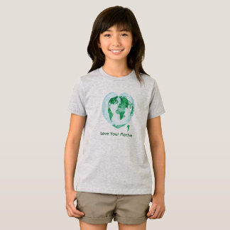 Girls T-Shirt Love Your Mother Earth