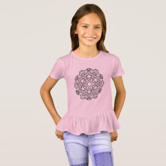 Girls t-shirt pink with Mandala