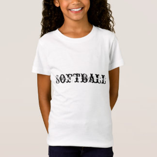GIRLS T SHIRT softball
