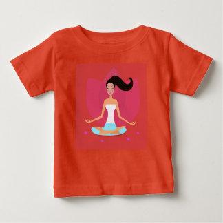 Girls t-shirt with Yoga girl