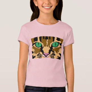 Girls Tabby Cat T-Shirt