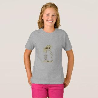 girls tagless t-shirt grey