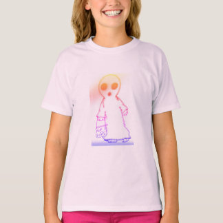 girls tagless t-shirt light pink