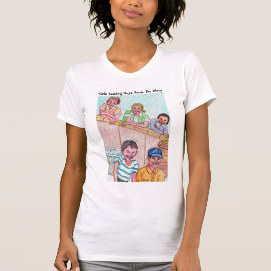Girls Teasing Boys From The Stoop T-Shirt