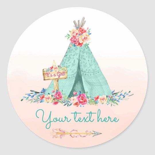 Girls TeePee Boho Tribal Favour Gift Thank You