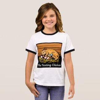 Girl's The Nesting Chicken Logo T-Shirt