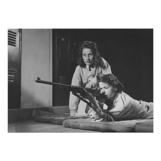 Girls Training in Victory Corps Rifle Marksmanship Announcements