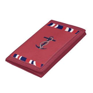 Girls Trifold Nylon Wallet Nautical