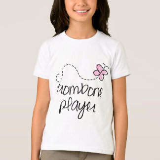 Girls Trombone Player Kids T-shirt