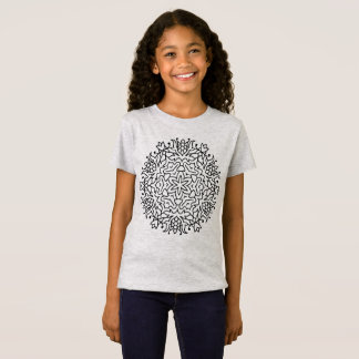 Girls tshirt with mandala art