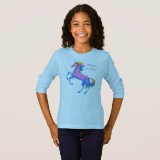 Girls Unicorn Long Sleeve T-Shirt