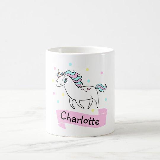 Girls Unicorn Personalised Mug