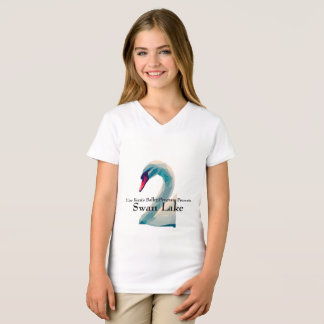 Girls V-Neck Swan Lake Shirt