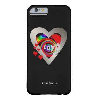 "Girls ""Vibrant Heart"" Barely There iPhone 6 case"