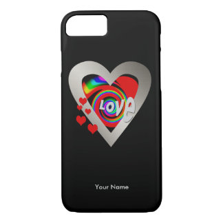 "Girls ""Vibrant Heart"" Barely There iPhone 7 case"
