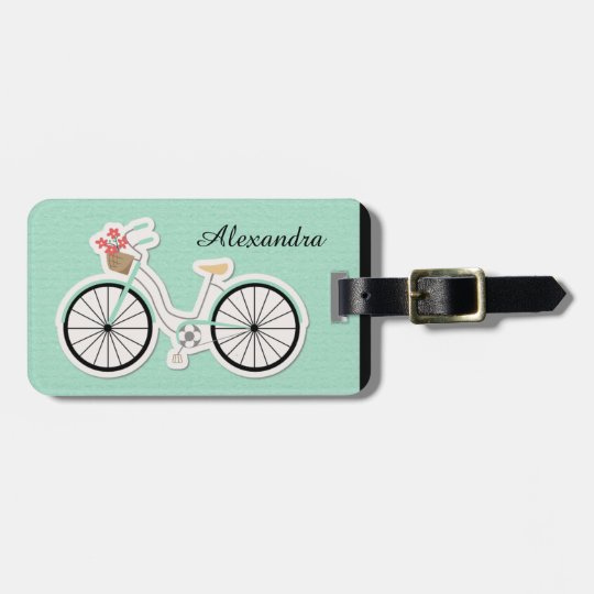 Girl's Vintage Bicycle Luggage Tag