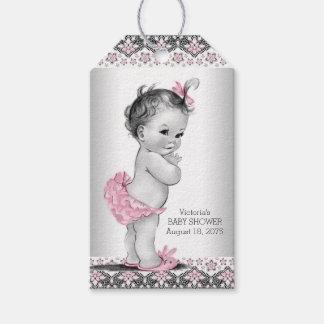 Girls Vintage Pink Black Baby Shower