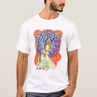 Girls Virgo Tee With Unicorn And Cute Female
