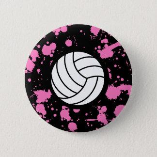 Girls Volleyball Art 6 Cm Round Badge