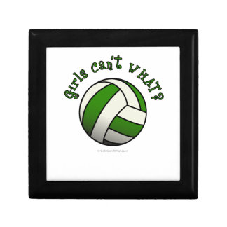 Girls Volleyball in Green Gift Box