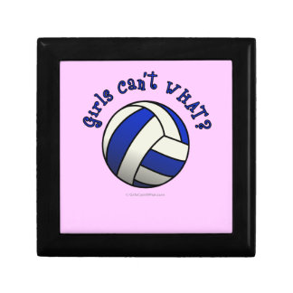 Girls Volleyball Team Gifts - Blue Small Square Gift Box